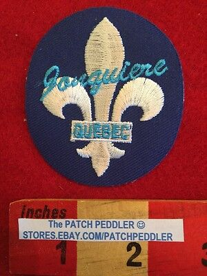 CANADA PATCH - JONQUIERE QUEBEC - Fleur-de-lis Flower Lily ~ Borderless 59EE ex