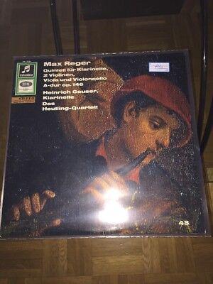 Max Reger LP Quintet Klarinette, 2 Violinen, Viola Und Violoncello Geuser (741)
