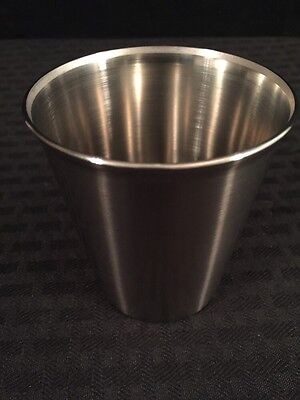 New Lot Of 3 Vollrath Stainless Steel 7oz. Solution Cups 68470