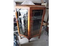 Vintage Glass Display Cabinet - West Sussex - CAN DELIVER LOCALLY