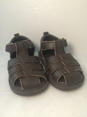 Janie And Jack Boy Toddler Brown Leather Sandles Size 4 New Without Box Jack Brown Leather