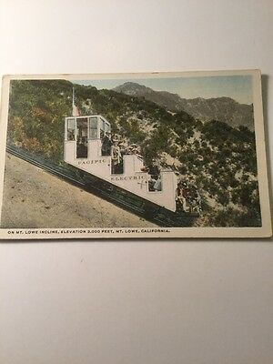 1900's Postcard Mt Lowe California Pacific Electric Antique Tourist Lift