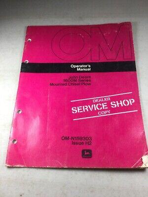 John Deere 1600m Series Chisel Plow Operators Manual