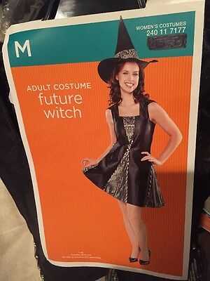 H4) Adult Medium HaLLoWeeN Witch Hat & Fancy Dress Costume - H Halloween Costumes