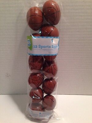 Basketball Sports Easter Eggs Character Favors Treat Containers Refillable 12 Pc