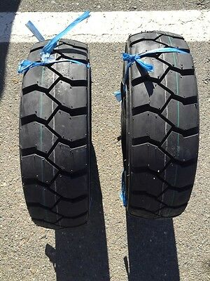 Two 5.00-8 500-8 Forklift Tire With Tubes Flap Grip Plus Heavy Duty