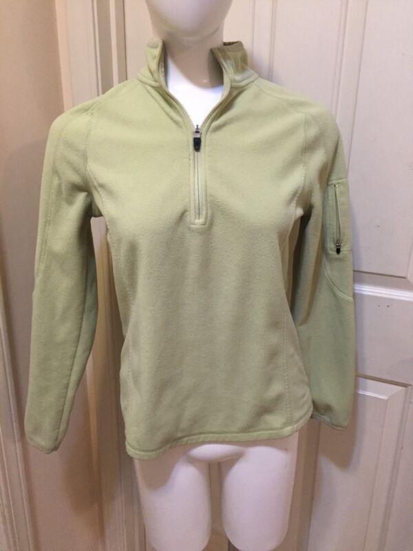 EDDIE BAUER  Part Zip Celery Green  Pullover Fitness Fleece Jacket_ Misses M