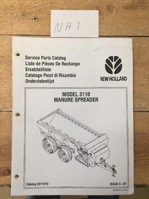 New Holland Model 3110 Manure Spreader Service Parts Catalog Manual