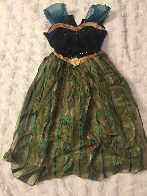 Disney Frozen Ana Coronation Dress Costume Halloween Girls size M 8-10](Ana Frozen Costume)