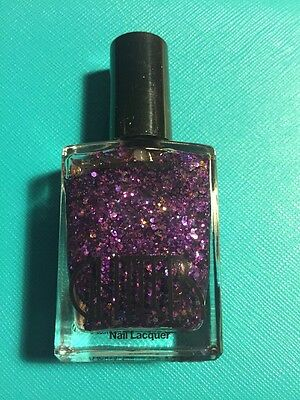 American Apparel Nail Lacquer Glitter Cosmos Purple Gold Discontinued Polish HTF