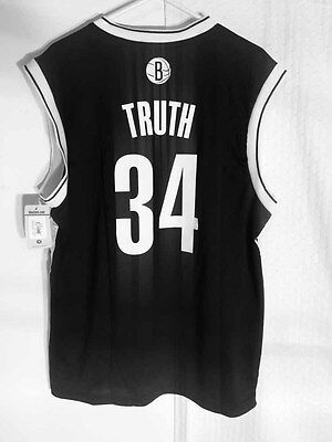 Adidas NBA Jersey Nets Paul Pierce Black Nickname sz XL