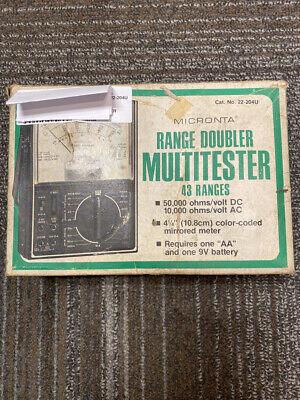 Micronta 22-204u Range Doubler Multitester 43 Ranges