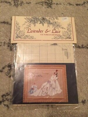 "Lavender & Lace - ""The Wedding"" Cross Stitch Pattern #19 -Victorian Designs NEW"