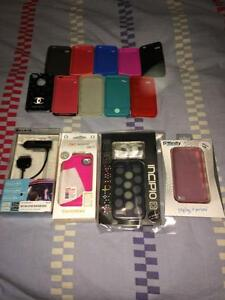 Multiple Cases & Car Charger for iPhone 4