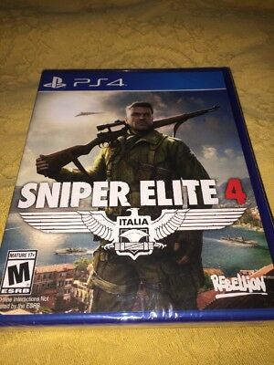 Sniper Elite 4 -PlayStation 4 Brand New Ps4 Games Sony Factory Sealed Free Shipp