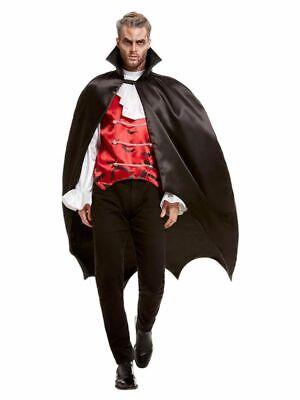 Gefütterter Vampir Satin Umhang mit Stehkragen Cape Halloween - Satin Vampir Cape Kostüme