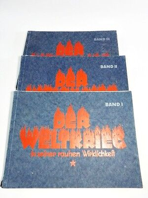 Der Weltkrieg in seiner rauhen Wirklichkeit 3 Bände  1926 Kriegsgeschichte