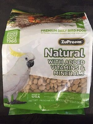 Zupreem natural diet bird food mineral vitamins Large Avian 3lb