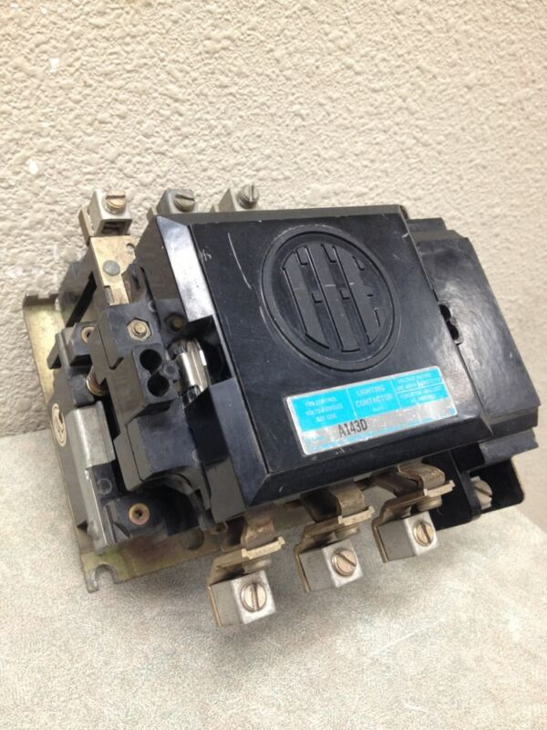 ITE A143D 3 POLE 60 AMP ELECTRICALLY HELD LIGHTING CONTACTOR W/ AUX CONTACT