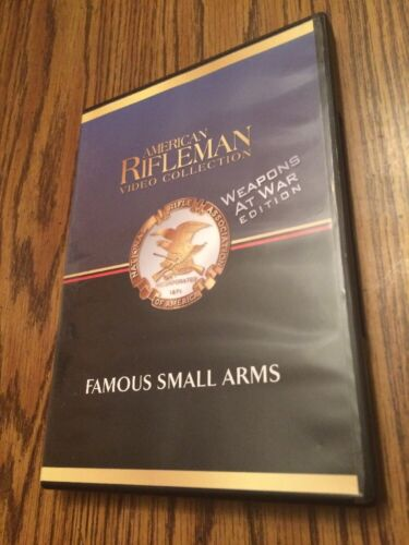American Rifleman Famous Small Arms History Channel Weapons At War DVD - $14.99