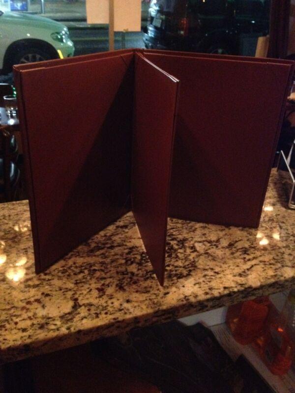 Brand New High Quality Restaurant Dessert Drink Menu cooper brown Color Lot 35