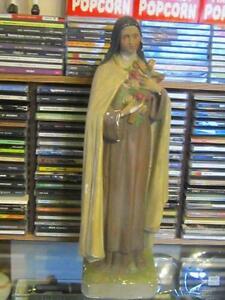 VINTAGE Chalkware Jesus or St. Theresa Statue 25 each or 40 BOTH Windsor Region Ontario image 5
