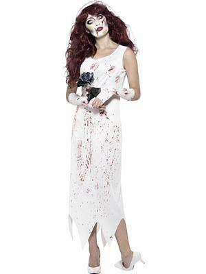 Zombie Novia Traje , XS, Disfraz de Halloween, Mujer, GB 4-6