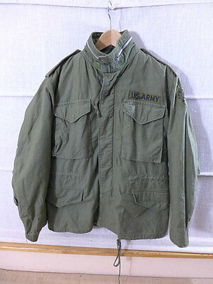 1970 US ARMY Vietnam M65 Coat cold weather Field Jacket Feldjacke oliv Small *6