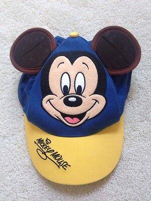 VTG Walt Disney World MICKEY MOUSE BASEBALL CAP Brown EARS YOUTH