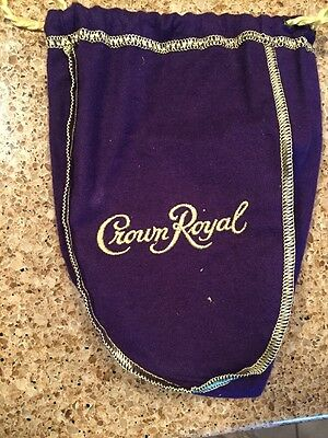 2 Crown Royal Bags - Purple and Gold Small Size