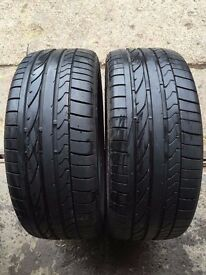 """2x Bridgestone tyres size 235 50 18 part worn""!"