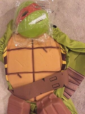 New Incomplete Teenage Mutant Ninja Turtle Halloween Costume Size Large 10-12