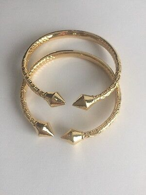 West Indian Gold Filled Bangle. Measurement Is 7 Inches Inner Circle