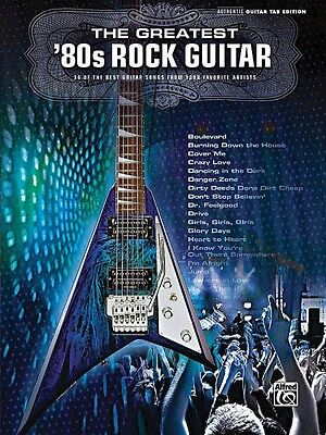 The Greatest '80s Rock Guitar Sheet Music Guitar Tablature Book NEW 000701554