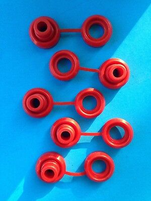 Hi Temp Red Snapper Exhaust Grommet With Washer anti-vibration Insulators-5 Pcs