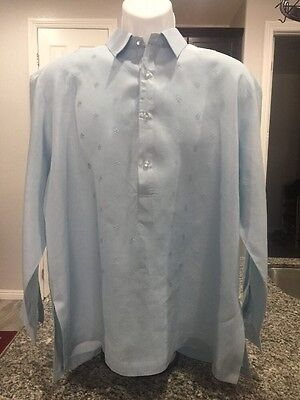 PRE-OWNED LUCK JAY-PHILIPPINES BARONG TAGALOG  SIZE LARGE