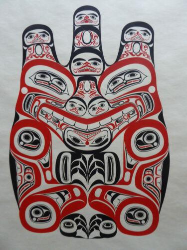 Northwest Coast Artist Bill Reid Haida Grizzly Bear Print  Canadian Native Art