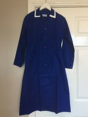 South West Royal Blue Workwear Dress Dinner Lady Cleaning Nurse Size 10