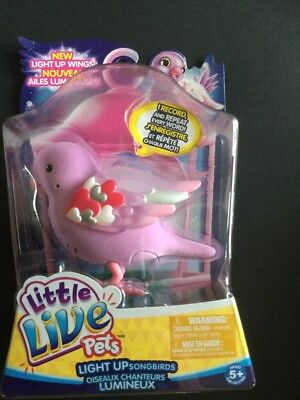 "Little Live Pets Light Up Song Birds ""Heart Beams"" BNIP Free Shipping"