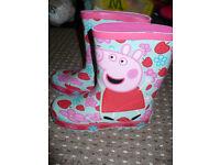 Marks & Spencer Peppa Pig Boots/ Wellies size 13 (EU 32). Brand new, never worn.