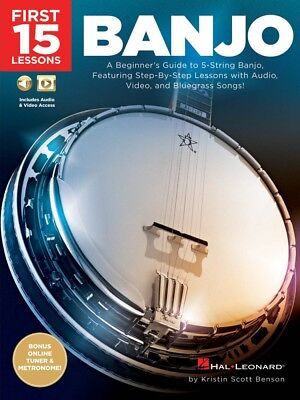 First 15 Lessons Banjo Sheet Music A Beginner's Guide Step-By-Step 000244649