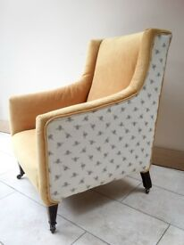 Stunning re-upholstered arm / armchair