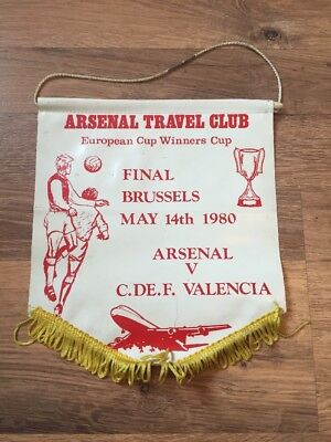 Used, Pennant: 1980 ECWC Final Arsenal V Valencia Arsenal Travel Club for sale  Shipping to United States