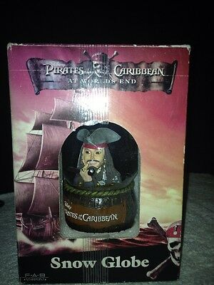 "Pirates of the Caribbean AT WORLD'S END Snow Globe ""Disney"" Johnny Depp NIB"