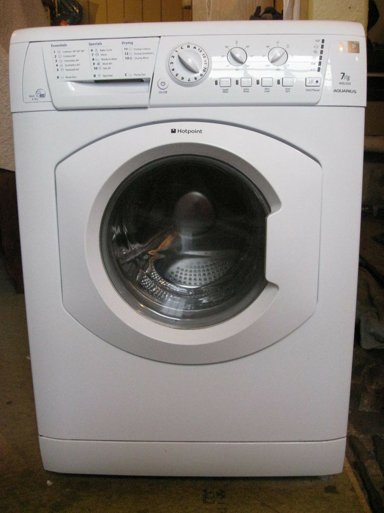 Hotpoint WDL520 7kg 1200 Spin White Sensor Washer/Dryer 1 YEAR GUARANTEE FREE FITTING