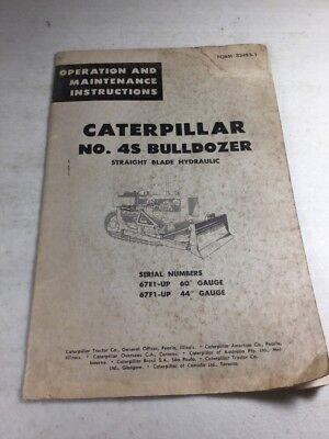 Caterpillar No. 4s Bulldozer Operators Operation And Maintenance Manual