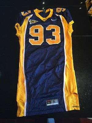 5baec27de9e Game Worn Used Nike Cal Golden Bears Football Jersey #93 Size L