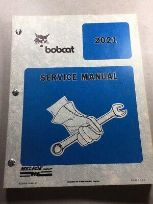 Bobcat 2021 Vibratory Plow Service Manual