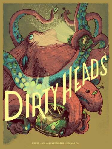 Dirty Heads 9/25/2020 Poster Ventura CA Signed & Numbered #30