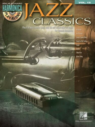 Jazz Classics - Harmonica Play-Along Book and CD NEW 000001336